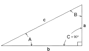 right triangle trig function calculator